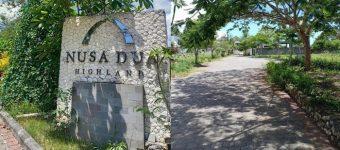 Jual Tanah di Nusa Dua Highland Bali Lok Aman Nyaman Asri