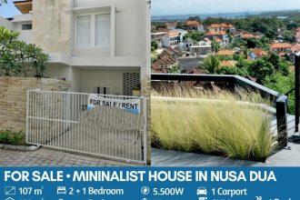 Jual Rumah Style Modern Minimalis di Nusa Dua Ocean View