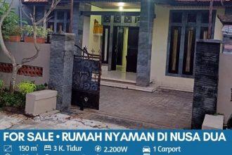 Jual Rumah di Perumahan Wisma Nusa Dua Permai Bali