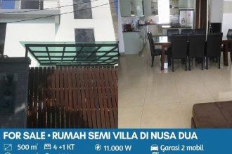 Jual Rumah Semi Villa di Taman Mumbul Nusa Dua Bali