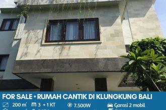 Jual Rumah Design Villa Alam Khas Bali di Klungkung Bali