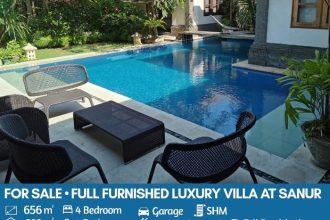 Dijual Villa di Sanur Bali dengan Design Khas Bali yang Cantik (1)