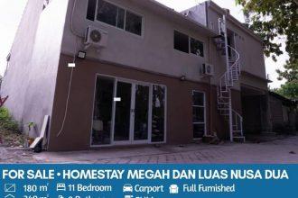 Jual Homestay di Dharmawangsa Nusa Dua Bali 11 Kamar Harga 2,5 M