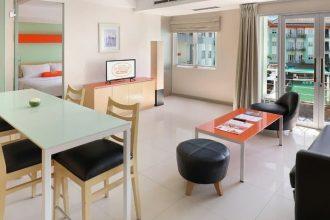 Jual Apartemen di Bali - Harris River View Kuta One Bedroom