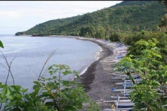Dijual Tanah Pinggir Pantai Amed di depan Japanese Ship Wreck Diving Spot, dekat Nalini Resort (1)