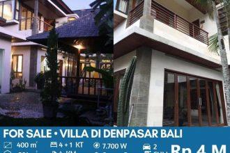 Jual Villa di Tengah Kota Mahendradata Denpasar Bali