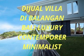 Dijual Villa di Balangan Bali Luxury contemporer minimalist