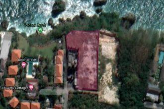 Dijual Tanah Cliff Front di Pantai Padang Padang