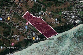 Dijual Tanah Pinggir Tebing Cliff Front di Sawangan Nusa Dua